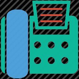 fax, fax machine, fax phone, telegram icon