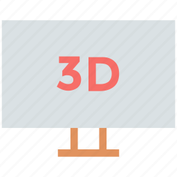 device, display, monitor, three d screen, three dimension screen, tv icon