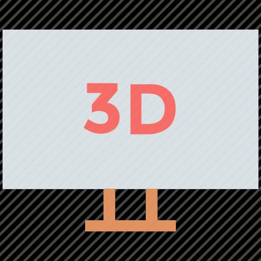 device, display, monitor, three d screen, three dimension screen, tv icon