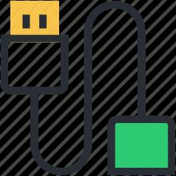usb cable, usb cord, usb data cable, usb jack, usb plug icon