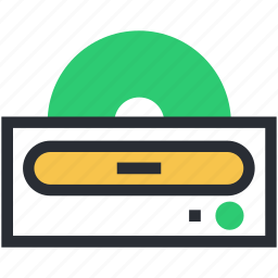 cd drive, cd player, dvd player, electronics, multimedia icon