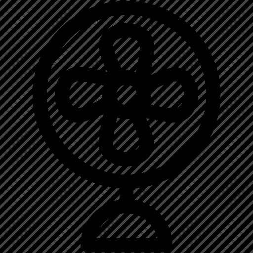 charging fan, electric fan, fan, pedestal fan, table fan icon