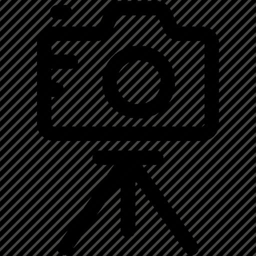 camera, image, photo, photograph, tripod icon
