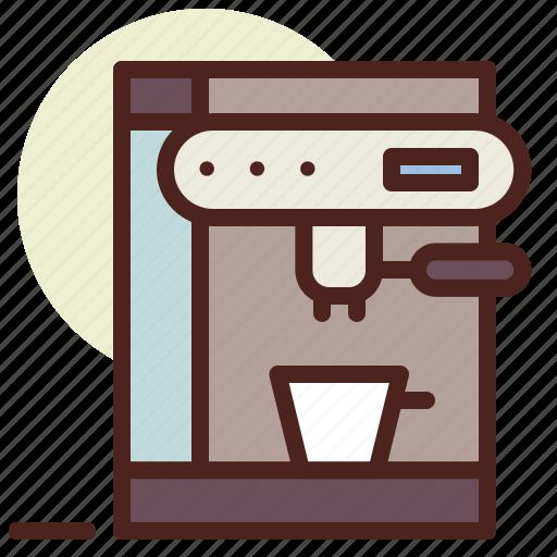 coffee, kitchen, machine, room, tech icon