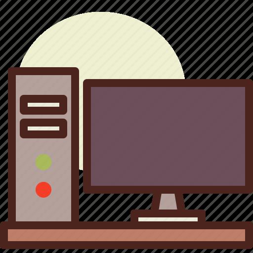 computer, kitchen, room, tech icon