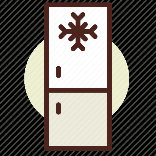 fridge4, kitchen, room, tech icon