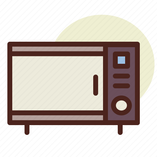 kitchen, microwave2, room, tech icon