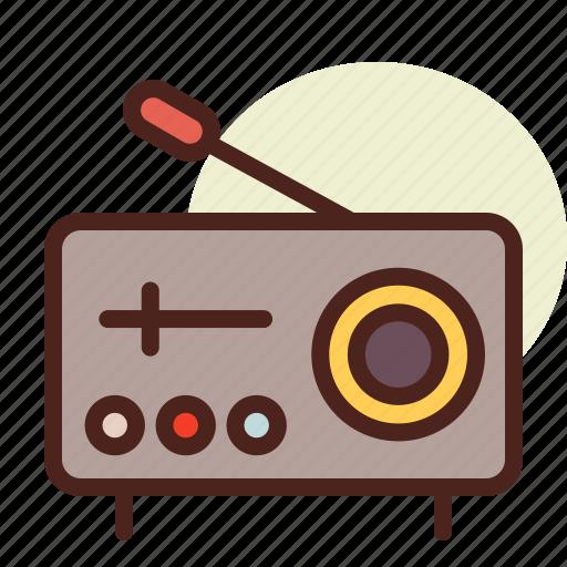 kitchen, radio, room, tech icon