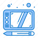 design, draw, tablet icon
