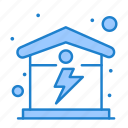 electric, energy, home, house icon