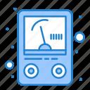 ampere, meter, voltmeter icon
