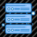 database, network, servers