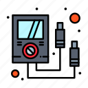 ammeter, electronics, meter, multi icon