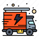 energy, packet, truck icon