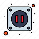 electric, electricity, socket icon