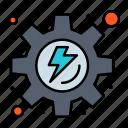 energy, gear, process icon