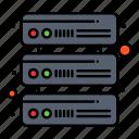 database, network, servers icon