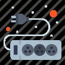 electronic, hardware, socket icon
