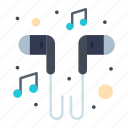 hand, headset, music, smartphone, song icon