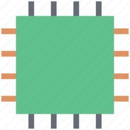 chip, computer chip, electronics, hardware, integrated circuit, processor chip icon