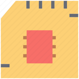 chip, computer chip, memory card, sd card, sim, sim card icon