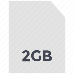 data storage, memory card, mobile card, sd card, two gb icon