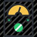 digital meter, electric test meter, electric voltage, panel meter, voltage meter icon