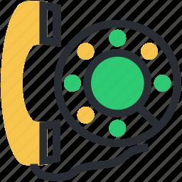 helpline, hotline, phone receiver, receiver, telecommunication icon