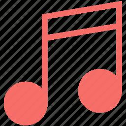 eighth note, music, music node, music note, music sign, quaver icon