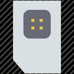 chip, mobile network, phone sim, sim, sim card icon