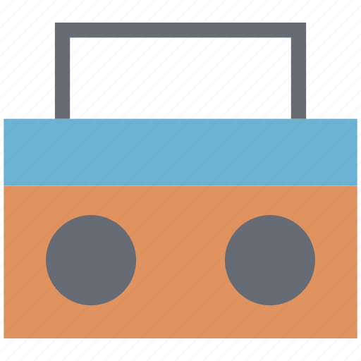 audio player, boombox, cassette player, cassette recorder, multimedia, stereo, tape player icon