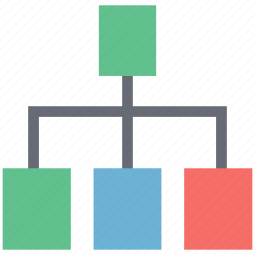 hierarchical structure, hierarchy, network, networking, server, server connection icon