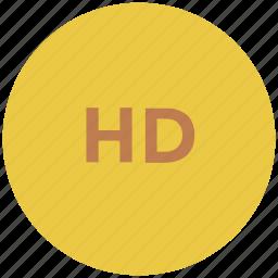 hd, hd cd, hd screen, hd video, high definition, technology icon