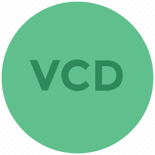digital cd, vcd, vcd file, video cd, video compact disc icon