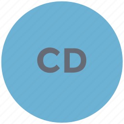 cd, compact disc, music disc, record, storage device, vinyl icon
