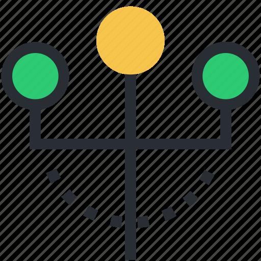 lamp post, light pole, light standard, street lamp icon