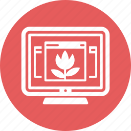 computer, desktop, monitor icon
