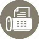 fax machine, phone icon