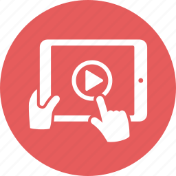 hand, ipad, tablet icon
