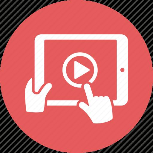 hand, ipad, play, tablet icon
