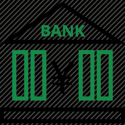 bank, money, yen icon