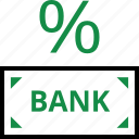 banking, percent, rate, return icon