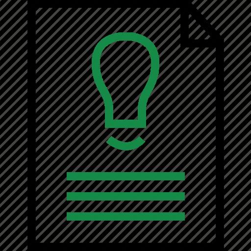 brilliant, business, idea, plan icon