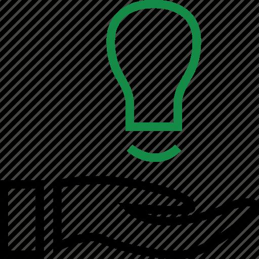 brilliant, good, idea icon