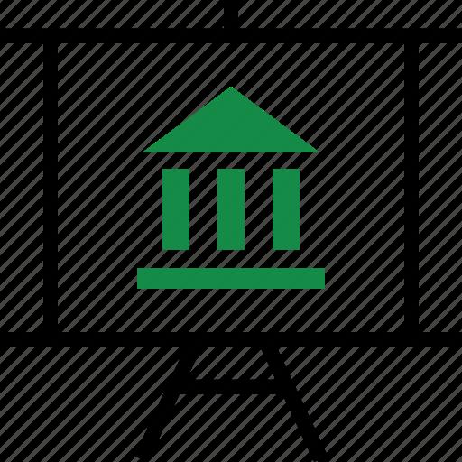 bank, business, presentation icon