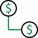 business, connect, money icon