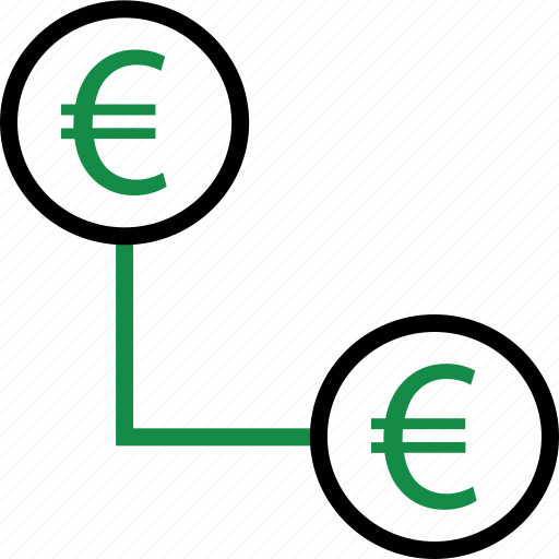 business, connect, euro icon