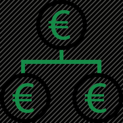business, euro, money icon