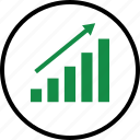 business, graph, high icon