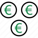 business, coins, money icon